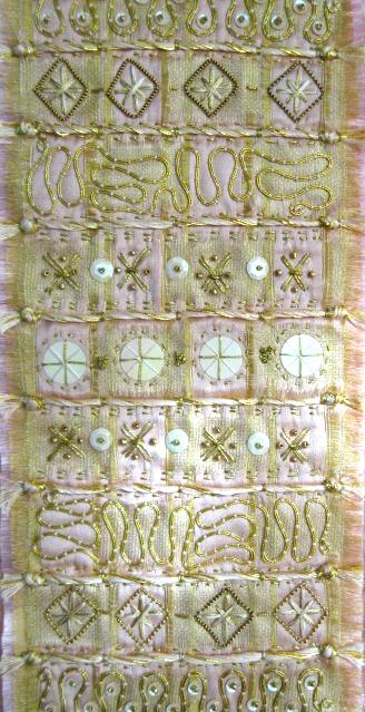JUNE FIFORD: Pattern in Gold, Embroidery
