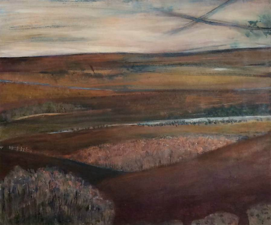 MAGGIE MACKENZIE: Country Medium: Acrylic on canvas Size: 60cm x 46cm 2014