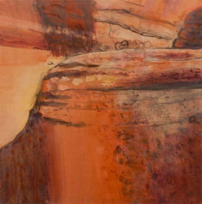 MAGGIE MACKENZIE: Kakadu Medium: Acrylic on canvas Size: 46cm x 46cm 2013