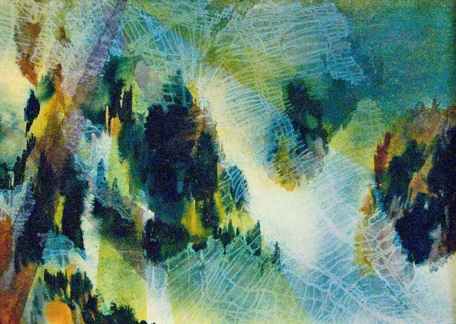 GILLIAN HAND: MOUNTAINS Medium: Acrylic painting Size: 79cm x 69cm 2010
