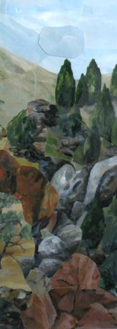 JOHN MARSH: Wyangala Guardians Medium: Acrylic on paper Size: 54 x 21 cm 2015