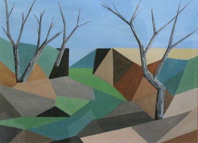 JOHN MARSH: Goolma Medium: Acrylic on paper Size: 24 x 31 cm 2015