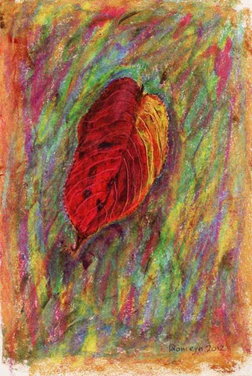DIRK ROMEYN: Autumn Leaf Medium: Oil pastel Size: 41cm x 31cm 2012
