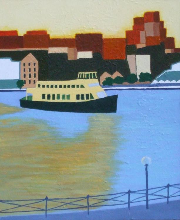JEANNE RUDD: Circular Quay, Medium: Acrylic 50 x 60cm