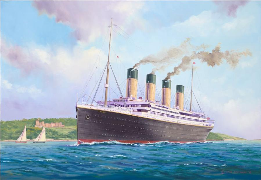 STAN STEFANIAK: Titanic Departure from Southampton Medium: Oil on linen Size: 44cm x 65 cm 2012