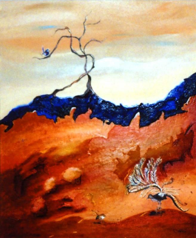 LYN WALKER: BLUE RIDGE Medium: Acrylic Size: 85cm x 95cm $1150 2013
