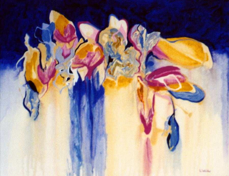 LYN WALKER: THE FLOWER SELLER Medium: Acrylic Size: 75cm x 65cm $695 2013
