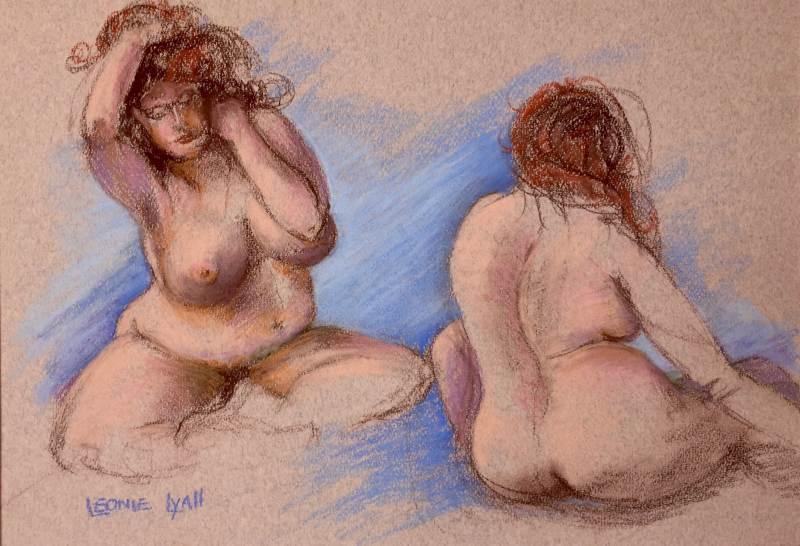 LEONIE LYALL: Pose 40cm x 50cm Pastel 2015