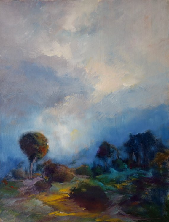 LEONIE LYALL: Clearing Medium: Oil 50cm x 40cm 2015