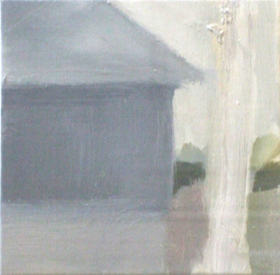 Jane Canfield: Portland House, Oil on canvas/board