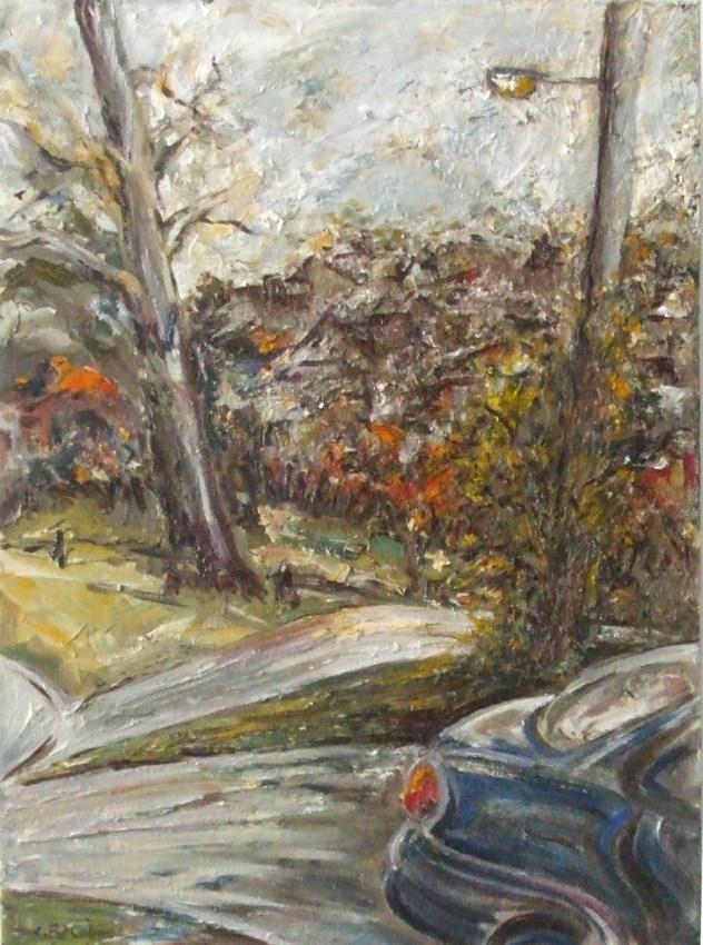 Barbara Holmes: Street Scene, Bathurst, Oil