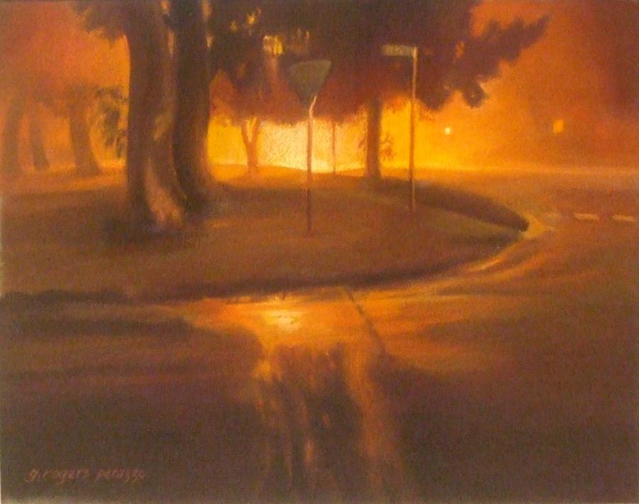 Gaele Rogers Perazzo: Fogbound on Mistral, Katoomba, Pastel