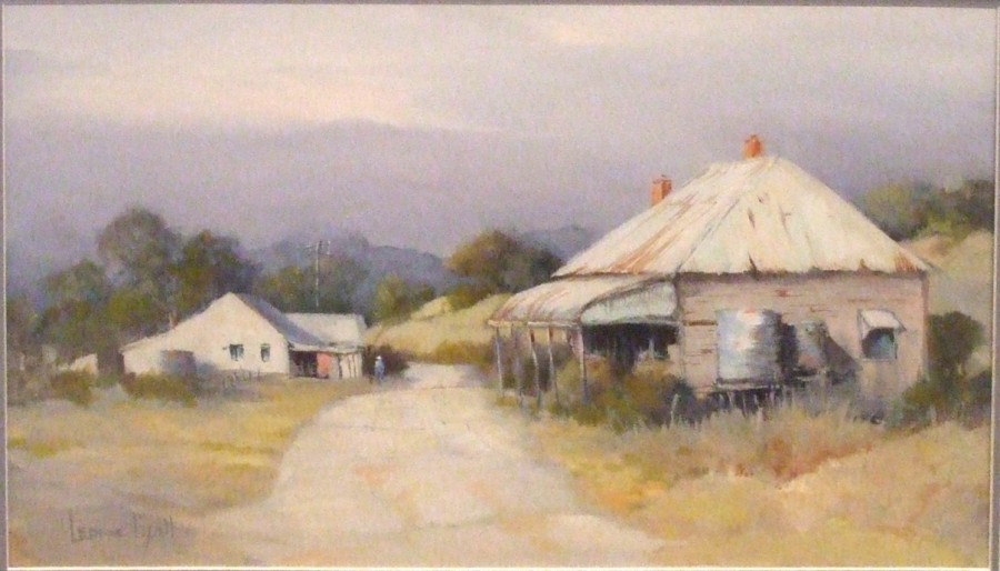 Off the Mudgee Road: Artist: Leonie Lyall Medium: Oil