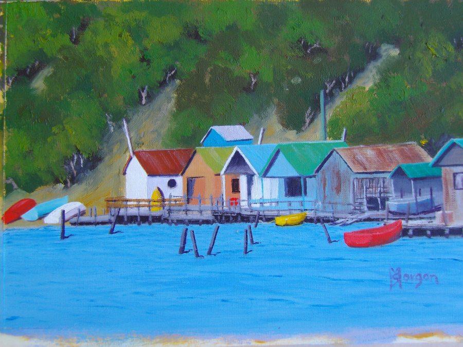 Sheryl Morgan: Cornelian Bay 30 x 20cm oil 2016
