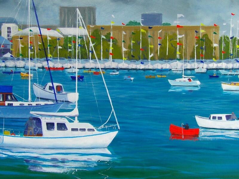 Sheryl Morgan: Wooden boats 3, 40 x 50cm oil 2015