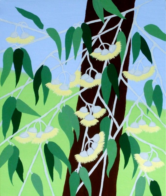 Jeanne Rudd: Gum Blossoms 3, Acrylic 51 x 61cm