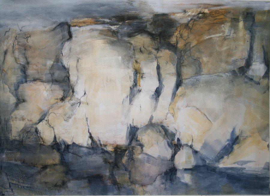 Natasha Daniloff: The Drip, 56x76 cm mixed media 2015