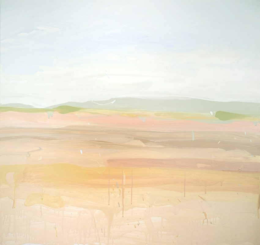 RUTH le CHEMINANT Liverpool Plains 91cm x 91cm acrylic paint on canvas 2018