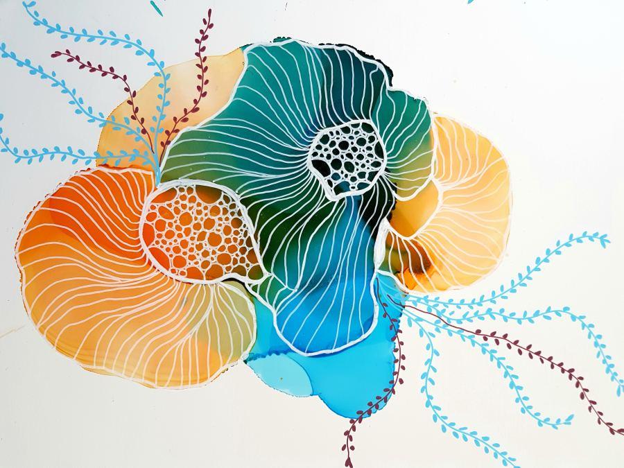 Julie Hansen: Orange Coral Reef