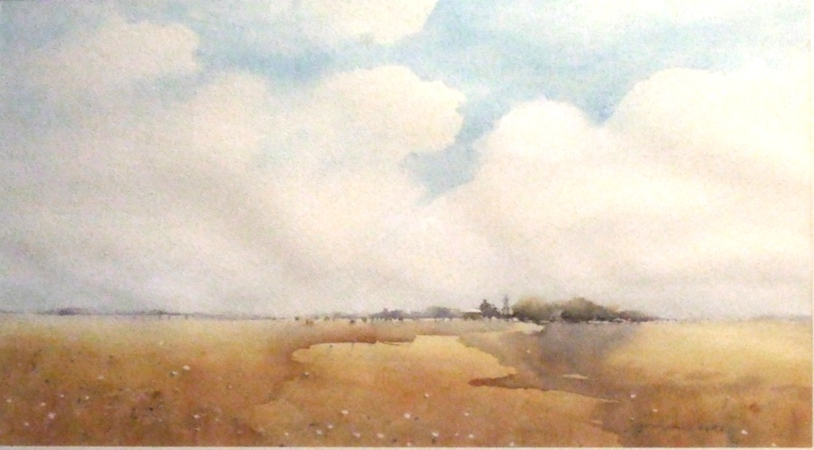 Annie Joseph: Before the Storm on the Western Plains, Watercolour