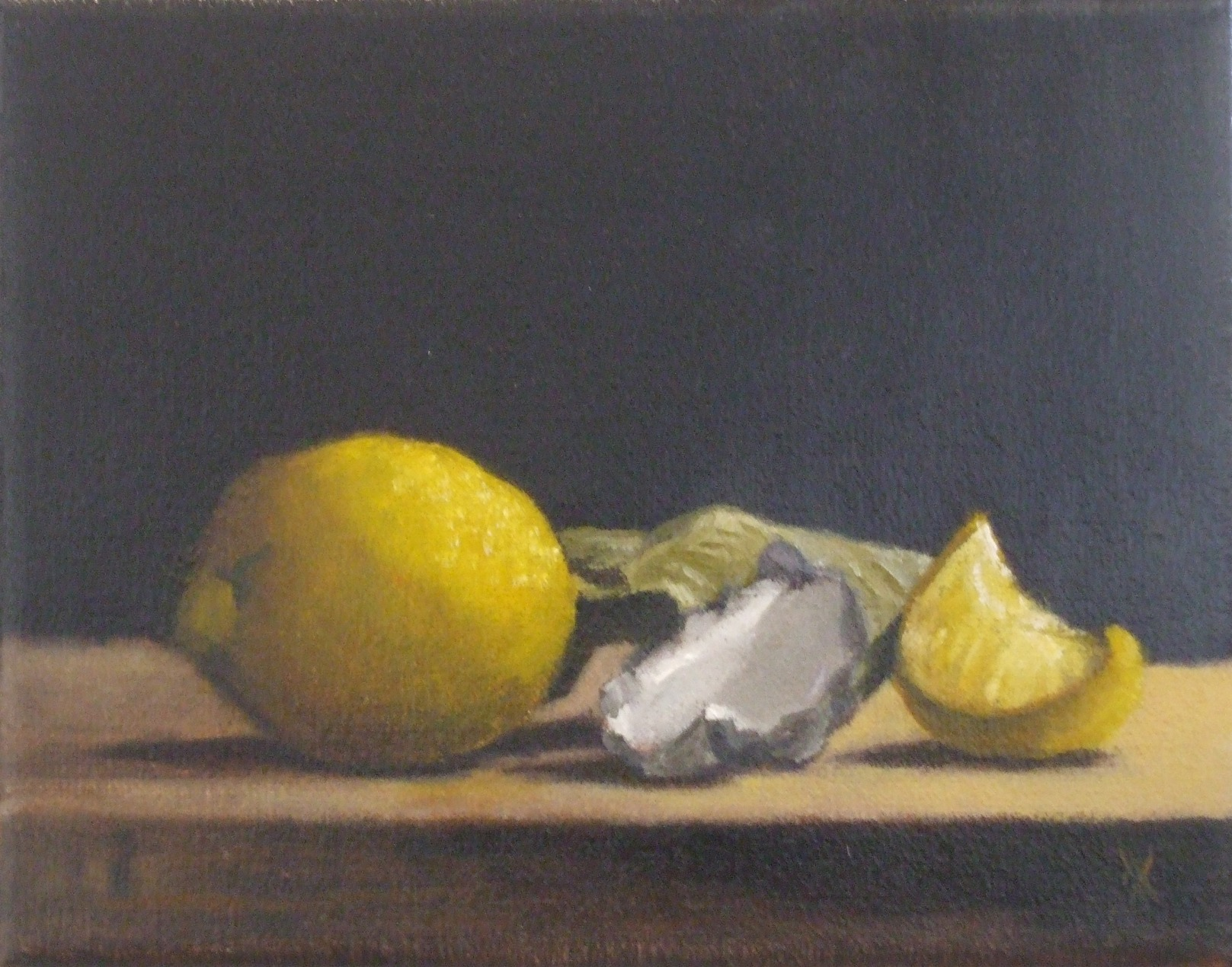 Commended: Lemon Garlic Artist: Phil Went Medium: Oil on linen