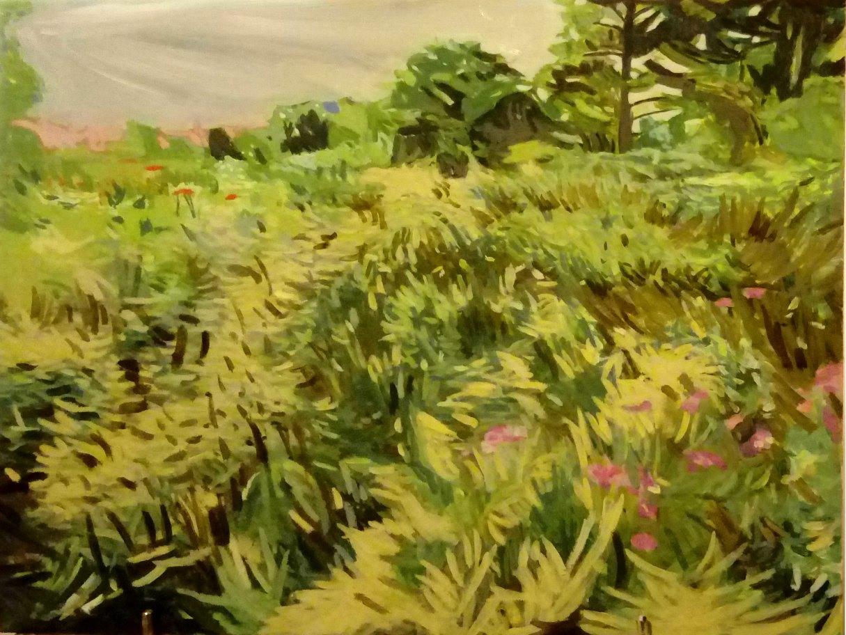 Jennifer Murray: Untitled (Oxford) 30x40 Oil on Italian Board 2018