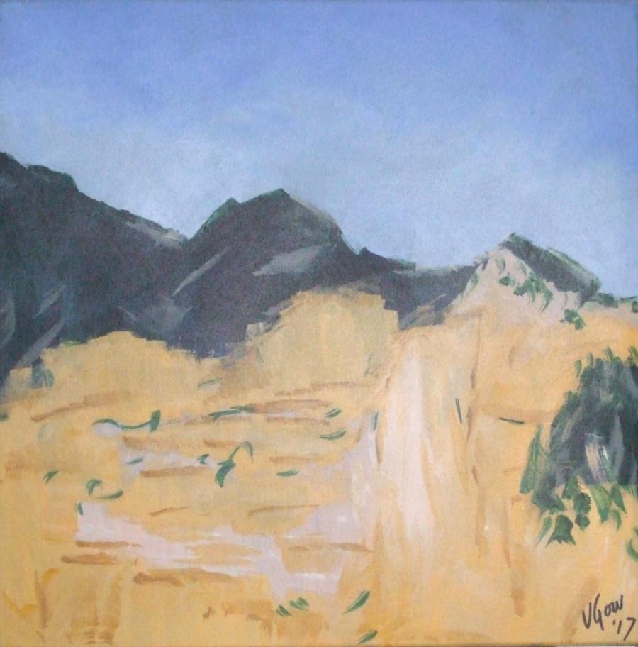 Virginia Gow:  Ochre Rock  Acrylic