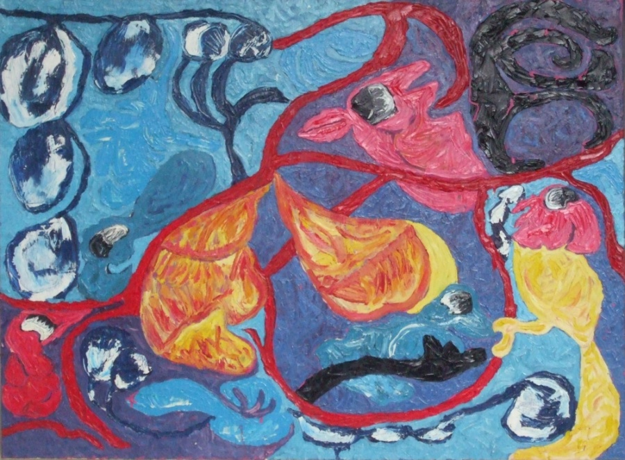Commended:The Birds Were Not Angelic Artist: Leeanne Trew Medium: Oil