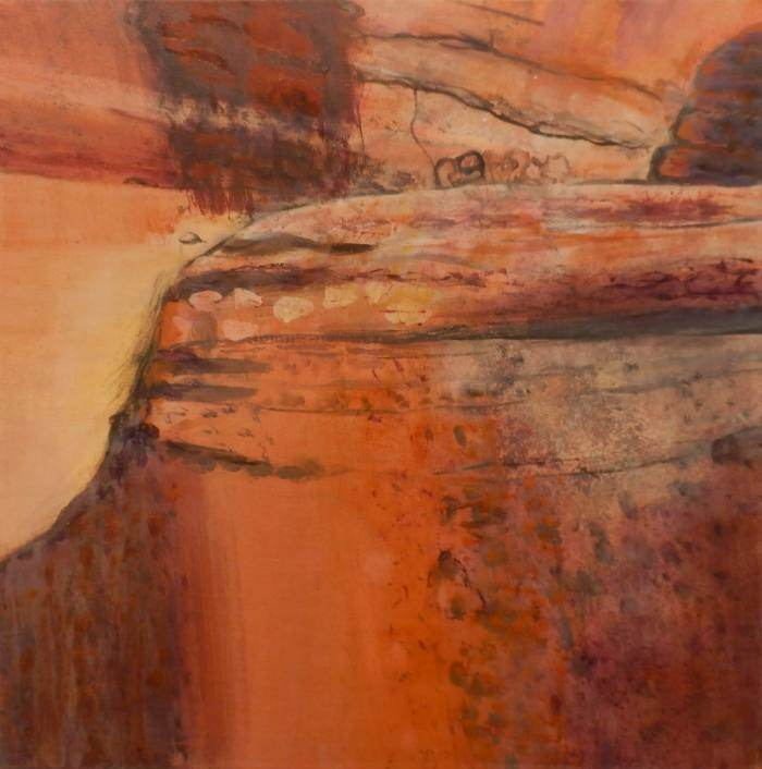 MAGGIE MACKENZIE: Kakadu Medium: Acrylic on canvas Size: 46cm x 46cm 2013