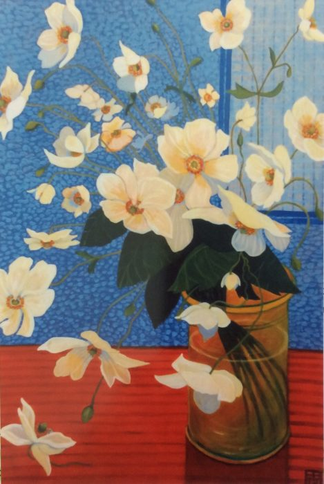 ELIZABETH BRYDEN: Windflowers Medium: Acrylic Size: 90 x 120 cms 2013