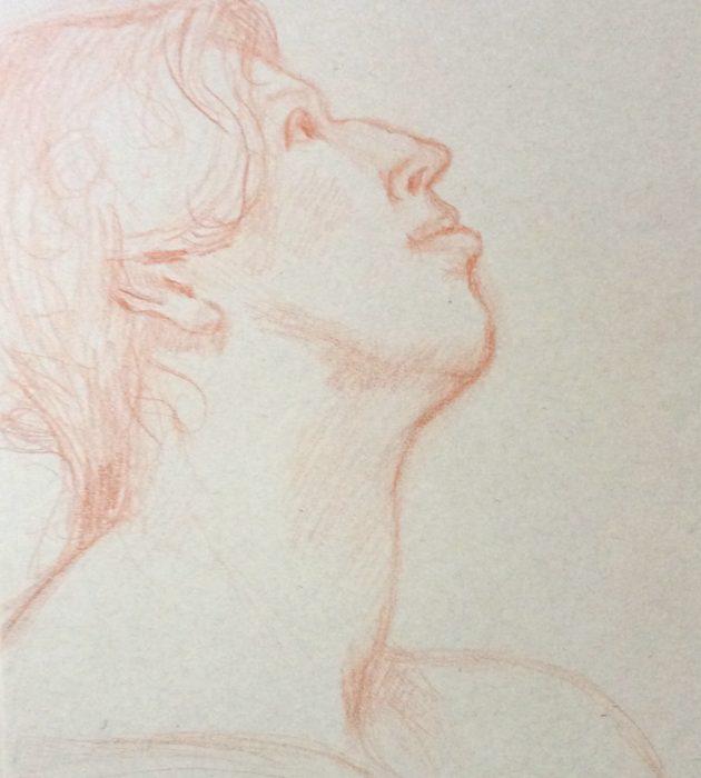 ELIZABETH BRYDEN: Portrait Medium: Pencil Size: 30 x 40 cms 2015