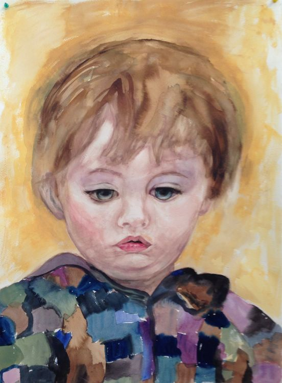 JOY MYERS CREED: FRANCIS Medium: Watercolour Size: 71cm x 52cm 2015