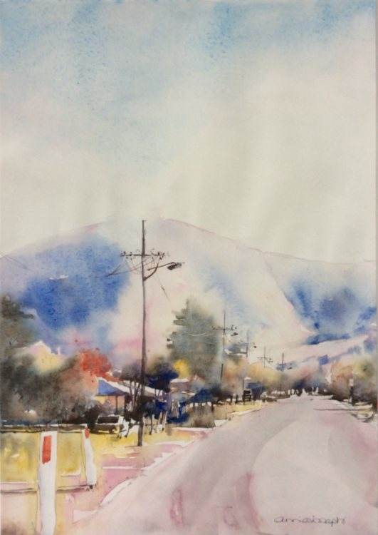 ANNIE JOSEPH: Into Lithgow Medium: Watercolour Size: 30cm x 42cm 2015