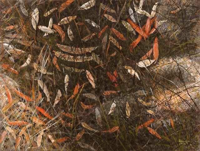 DIRK ROMEYN: Leaves Medium: Acrylic Size: 62cm x 82cm 201