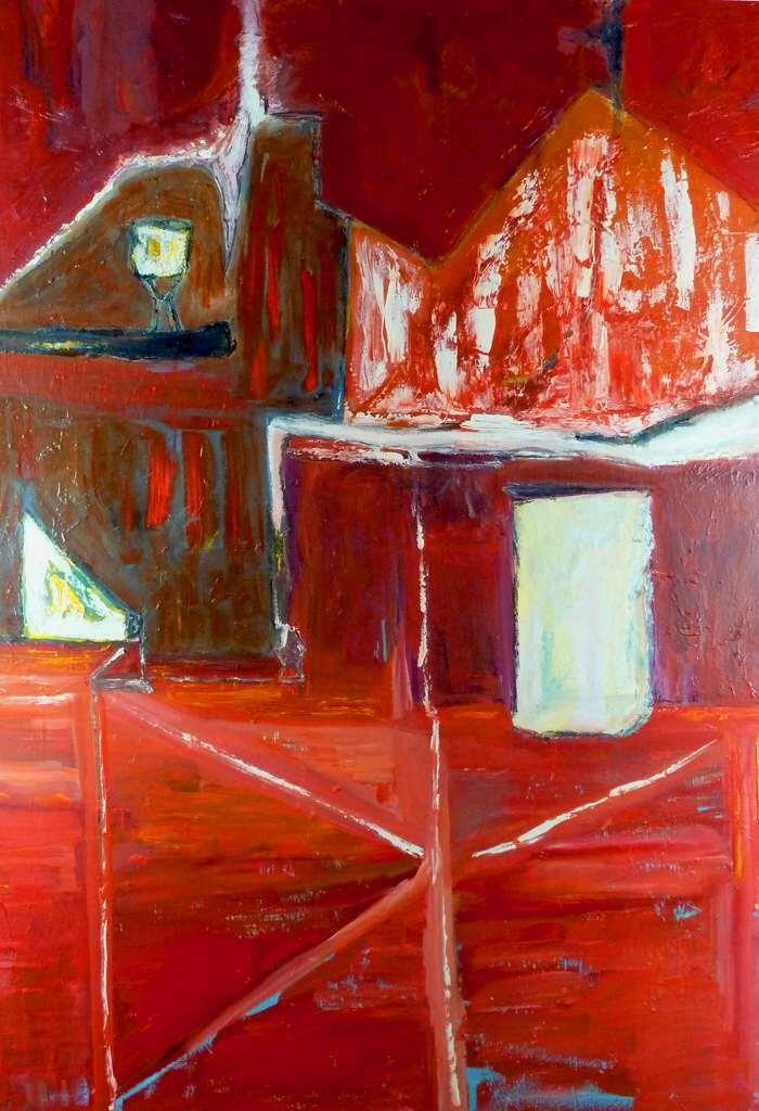 BARN DOOR FACADE. Oil on canvas.140cmx100cm.