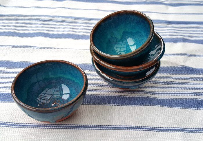 JO CHIPPERFIELD Small blue bowls 4 - 5 cm Terracotta 2015