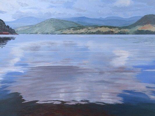 Sheryl Morgan: Eventide 97 x 67cm oil 2011