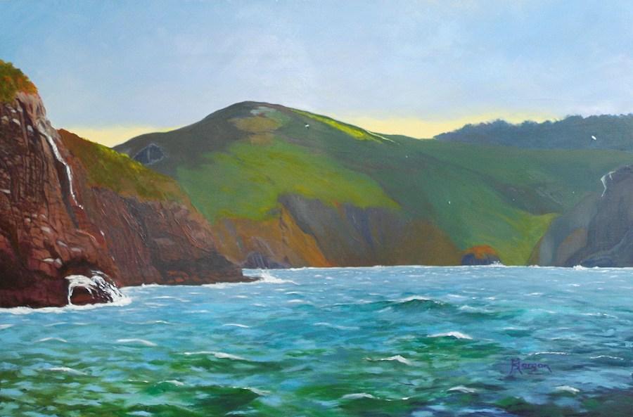 Sheryl Morgan: Near friar's rock 97 x 67cm oil 2015