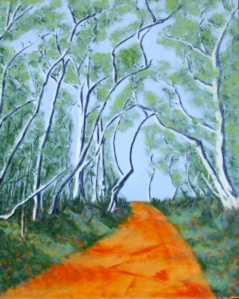 Jeanne Rudd: Down the Up Road, Acrylic 51 x 61cm