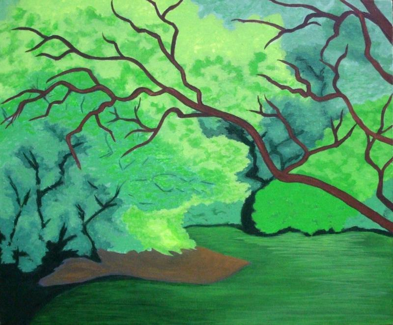 Jeanne Rudd: Duck Pond, Acrylic, 51 x 61cm