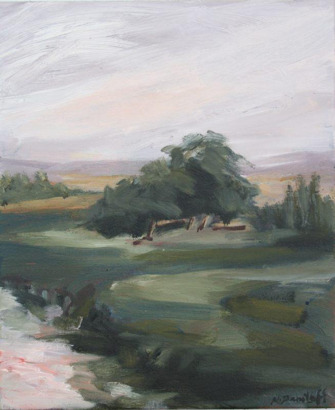 Natasha Daniloff: Ross, Tasmania, 30x 25 cm, oil 2017