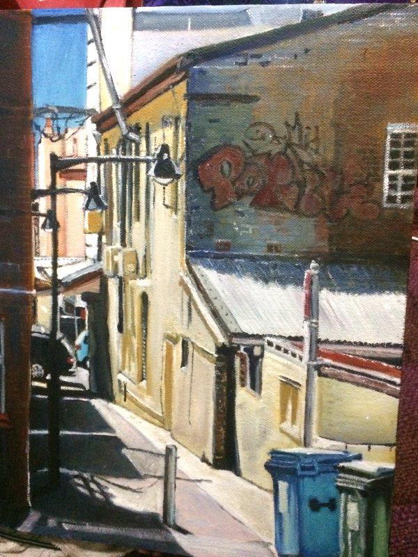 Linda Hemmings: Froma Lane 40 x 50 cm oil April 2017