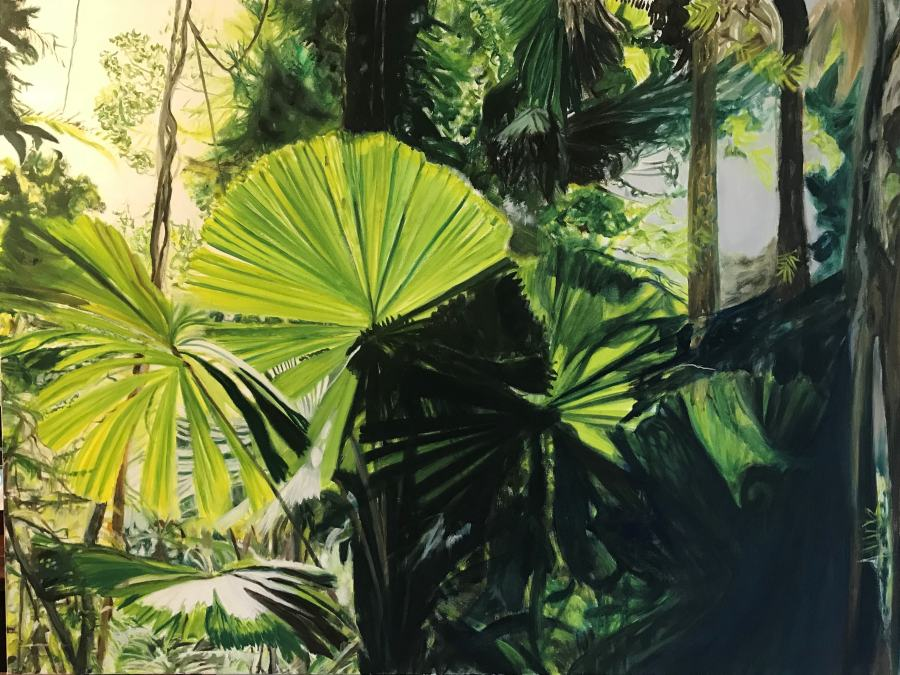 VANESSA WHITTINGTON: Daintree 120w X 90h oil on canvas 2018