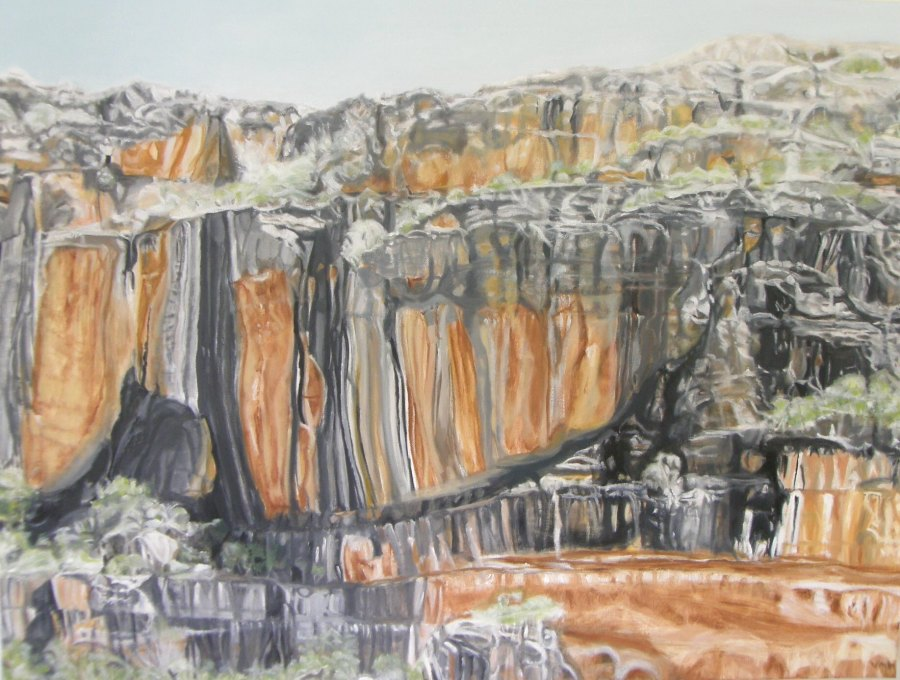 VANESSA WHITTINGTON: Noon light, Burrunggui, Kakadu 102w X 76h oil on canvas 2017