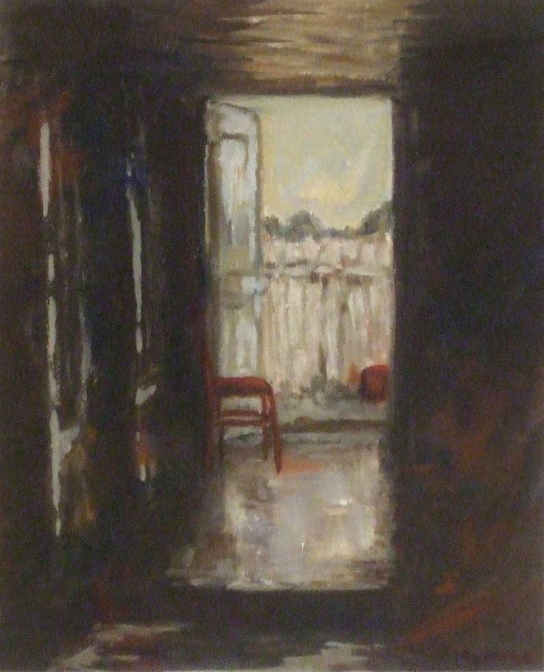 Highly Commended: The Red Chair, Haefliger's Artist: Barbara Holmes Medium:Oil