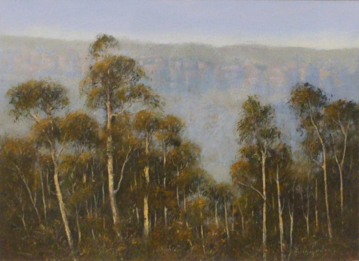 Helen Hudson: Misty Escarpment Acrylic