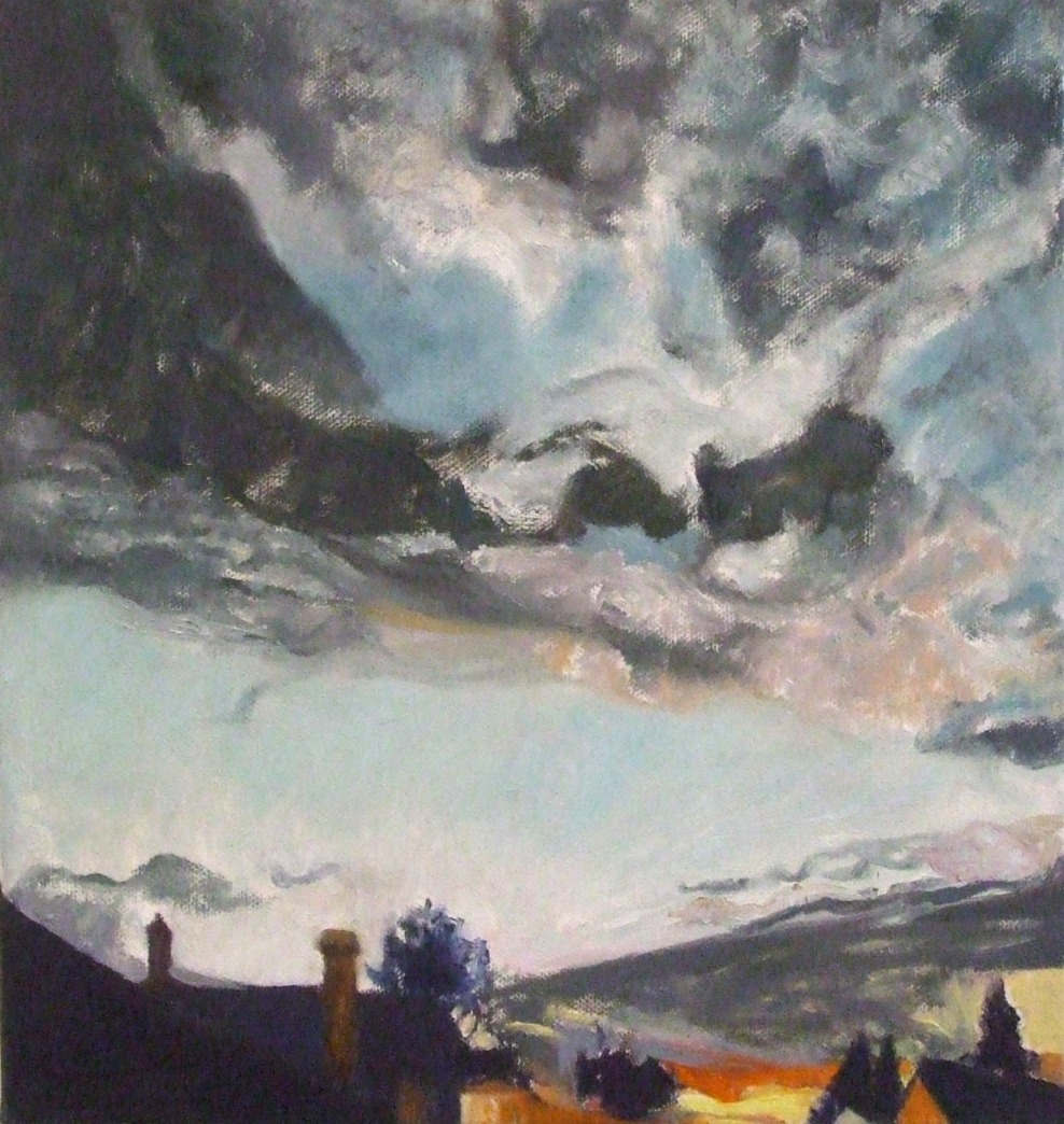 Commended: Evening Sky over Springwood Artist: Vanessa Whittington Medium: Oil on canvas