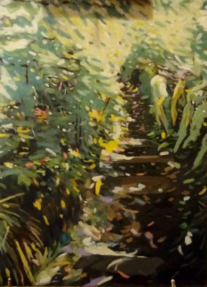 Jennifer Murray: La Folia (Cornish Path) 30x40 Oil on Italian Board 2018