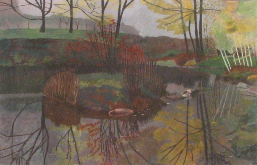 First Prize: Misty Pond Artist: Alison Indigo Medium: Pastel