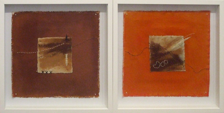 Commended: Landlines 1& 2 Artist: Glenice Ware Medium: Mixed media